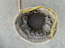 Vintage Bell System Telephone Linesman Climbing Canvas Bucket Hoist Tool Bag Usa