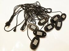 Color Changing Rock Lights Kit 8PC Underbody RGBW With Remote -  Each Light 36W