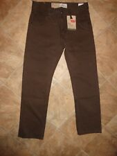 "Boy's Levis 513 Slim Straight ""Bittersweet Brown"" Pants Size 14 NWT"