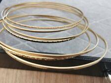 Armreifen Set 7 Stück 585er Gold