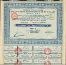 SICAF: Sté Indochinoise de Commerce, Agriculture & Finance (INDOCHINE) (U)