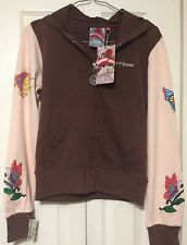 Sour N' Cream Full Zip Hoodie Women's Medium Sequins Tattoo Art NWT
