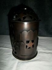 Hosley Morrocan Tea Light Lantern, Burnished Copper
