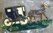 Amish Horse & Buggie stained glass style suncatcher New w/suction cup Pa