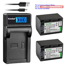 Kastar Battery LCD Charger for Sony NP-FV70 & Sony DCR-SX15 DCR-SX20 DCR-SX21