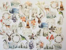 46er Sticker Set Winterwald Aufkleber Weihnachten Winter basteln Kinder Hirsch