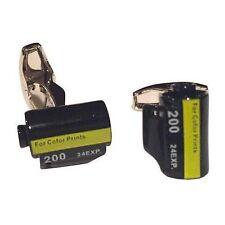 Camera 35Mm Film Roll Photography Cufflinks Photo + Free Box & Cleaner