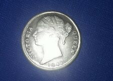 1 dollar 2 Rupees 8 anna  1941 Victoria Queen coin silver plated