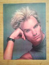 poster 28x20cm ROCK AND FOLK - années 80 - Sting