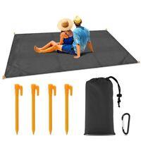"""Sand Free Beach Mat Outdoor Picnic Blanket Rug Sandless Mattress Pad 79""""x 55"""""""