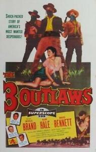 THREE OUTLAWS,THE : 1956 : DVD-R : STARRING : NEVILLE BRAND/ALAN HALE JR: RARE
