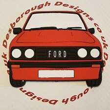 Ford MK2 Escort Rs 2000 Large Fridge Tool Box Magnet Coaster Venetian Red Front