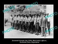 OLD POSTCARD SIZE PHOTO OF SAVANNAH GEORGIA THE BLACK POLICE SQUAD c1950