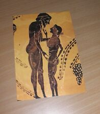EROTICA UNIVERSALIS Postcard Kunst Sittengeschichte Griechen Vasenmalerei Gay