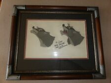 Disney Fox & Hound Hand Painted Movie Cel Celluloid Badger Art Stevens Autograph