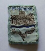 Vintage cloth Scouts badge, Wimborne, 2 x 1.5 inches.