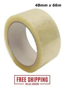 Clear Strong Packaging Parcel Packing Tape Carton Sealing Sellotape 48mm x 66m