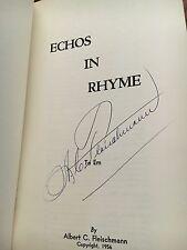 Echos in Rhyme; by Albert C. Fleischmann softcover Book1956 ~ SIGNED