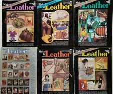 Make it Leather vintage Magazines 6 issues 1981 complete pullouts patterns