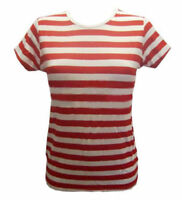Red and White Striped Fancy Dress T-Shirt ONE SIZE (UK 8-14) Wally Girls Fun Top