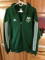 Adidas PORTLAND TIMBERS Full Zip Hoodie Hooded Travel Sweatshirt Jacket Sz L