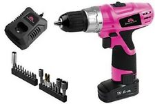 Seriously Pink 12V Lithium ion Drill Driver with 21 Accessories