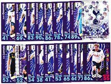 TOPPS MATCH ATTAX PL 2016-17  Complete Team Set - Tottenham Hotspur - 1-19 Cards
