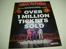 JONAS BROTHERS Happiness Tour OVER MILLION TICKETS SOLD 2019 Promo Poster Ad
