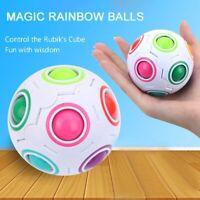 Kreative Magie Sphaerische Geschwindigkeit Regenbogen Puzzles Ball Fussball M7B4