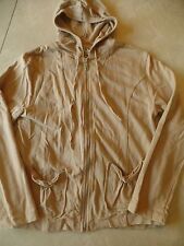 ladies AW SPORT PETITE SMALL JACKET ps KHAKI HOODIE spring fall LIGHTWEIGHT zip