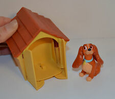 "RARE 1997 Lady and the Tramp 3"" Dog House Action Figure McDonald's Europe Disney"