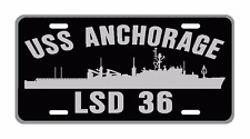USS ANCHORAGE LSD 36 License Plate Military Signs USN 001
