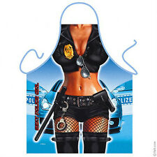 Police woman law enforcement kitchen apron gag gift role play fun Polyestr ITATI