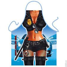 Police woman law enforcement kitchen apron gag gift role play fun Polyestr ITATI