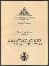 Programme Gran Rex Theater Ballet Alla Scala De Milan 1983