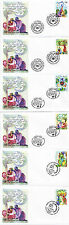 UNITED NATIONS 2007 PEACEFUL VISIONS ON 6 FIRST DAY COVERS SHSs
