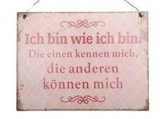 Blechschild/textschild Vintage Shabby Chic Landhaus Schild Garten