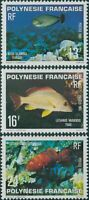 French Polynesia 1981 Sc#341-343,SG339-341 Fish set MLH