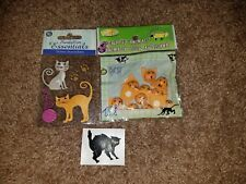 LOT OF 3~SANDYLION ESSENTIALS~KITTENS CATS~SCRAPBOOKING~STICKER~MRS. GROSSMAN