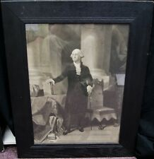 "Peter Frederick Rothermel ""George Washington Portrait"" Engraving Framed B3239"