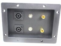"""(1) DJ Speaker Cabinet Terminal Cup With Speakon & 1/4"""" Connections 7x5 Tx-20"""