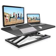 Ergonomic Sitting / Standing Adjustable Computer & Monitor Desk -Up 18 in Height