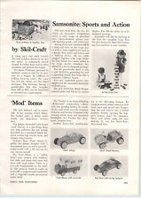 1969 PAPER AD Samsonite Lego Article Nylint Toy Car Truck Mod Trail Blazer RV