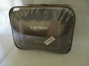 "Langria 15lbs Weighted Blanket Solid Gray 48"" x 72"" New Open Box Item"