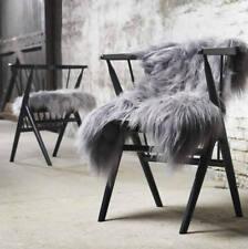 Grey Sheepskin Rug Icelandic Sheepskin Rug Premium Long , soft wool 100% natural