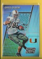 Greg Olsen 2016 Panini Prizm Draft Picks PRIZMS Card # 42 Panthers Football NFL