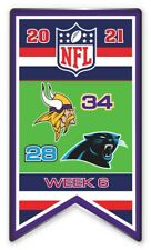 2021 Semaine 6 Bannière Broche Minnesota Vikings NFL Vs.Carolina Panthers Super