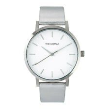 The Nomad Watch Unisex Leather Watch SILVER