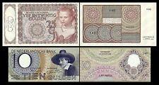 2x 10, 25 Gulden - Ausgabe 1943 - 1944 - Reproduktion - 008