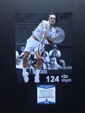 Roger Federer autographed signed 8x10 photo Beckett BAS COA Tennis Wimbledon